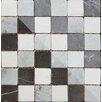 British Ceramic Tile Buxton 30.2cm x 30.2cm Natural stone Mosaic Tile in Black/White