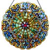 River of Goods Webbed Heart Tiffany Style Stained Glass Window Panel
