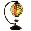 """River of Goods Hot Air Balloon Tiffany Style Stained Glass 14.5"""" H Lamp"""