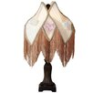 "River of Goods Downton Abbey 23.5"" H Pastel Floral Fringe Table Lamp with Novelty Shade"