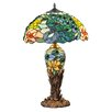 "River of Goods Fantastic Feodora Tiffany Style Stained Glass Double Lit 26"" H Table Lamp"