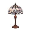 """River of Goods Allistar Tiffany Style Stained Glass 20.5"""" H Table Lamp"""