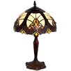"""River of Goods Halston Tiffany Style Stained Glass 16"""" H Table Lamp"""