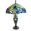 "River of Goods Victorian Tiffany Style Stained Glass Double Lit 26"" H Table Lamp"