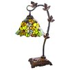 """River of Goods Floral Leaf Tiffany Style Stained Glass  23"""" H Table Lamp"""