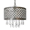 River of Goods Lattice 1 Light Crystal Chandelier