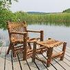 Vermont Cedar Chair Company Irie Adirondack Chair and Ottoman Set