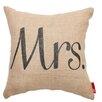 Posh365 Expressive Mrs. Burlap Jute Throw Pillow