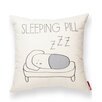 Posh365 Sleeping Pill Cotton Throw Pillow