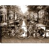 Hobbitholeco. 'Parked Cycles' by P.T. Truk Photographic Print on Wrapped Canvas