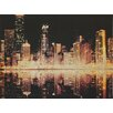 Arthouse Glitter City Graphic Art Wrapped on Canvas
