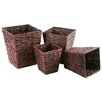 My Maison 4 Piece Palm Leaf Square Basket Set