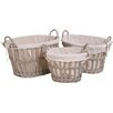 My Maison Vintage 3 Piece Oval Basket Set