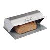 Zeller Present Brotkasten aus Edelstahl mit Glasboden