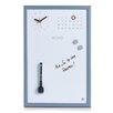 Zeller Memo Board with Clock and Calendar