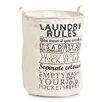 Zeller Present Wäschesammler Laundry Rules