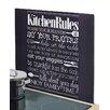 Zeller Present Herdblende-/ Abdeckplatte Kitchen Rules