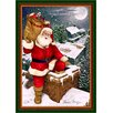 Milliken Winter Seasonal Up on the Housetop Christmas Area Rug