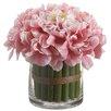 Silk Flower Depot Hydrangea Bouquetin Glass Vase
