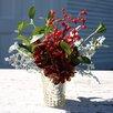 Silk Flower Depot Lulu and Ella Hydrangea and Winter Berries Holiday Centerpiece