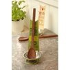 Black Country Metal Works Huile D'Olive 2 Piece Spoon Rest and Wooden Spoon Set
