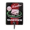 Black Country Metal Works Le Milleur Sandwich Advert Wall Hook