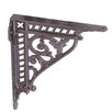 Black Country Metal Works Leaf Shelf Bracket