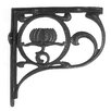 Black Country Metal Works Lotus Flower Shelf Bracket