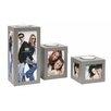 Deknudt Frames 3 Piece Wood Candleholder Set
