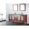 """Adornus Amara 60"""" Double Bathroom Vanity Set with Mirror"""