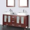 "Adornus Adrian 59"" Double Bathroom Vanity Set with Mirror"