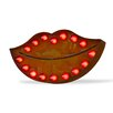 TrekDecor Iconics Red Lips Steel Wall Decor