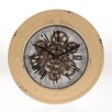 Inart 40cm Metal Wall Clock