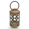 Inart Metal/Wooden Outdoor Lantern