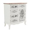 Inart 1 Door 5 Drawer Cabinet