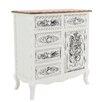 Inart 1 Door 5 Drawer Cabinet