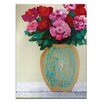 Artist Lane Pattern Vase by Anna Blatman Framed Painting Print on Wrapped Canvas