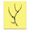 Artist Lane Wooden Antler by Ayarti Graphic Art on Wrapped Canvas