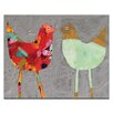 Artist Lane Love Birds by Anna Blatman Framed Painting Print on Wrapped Canvas