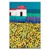 Artist Lane Sunflower Field by Anna Blatman Painting Print on Canvas