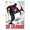 Artist Lane Ski Colorado Vintage Advertisement on Wrapped Canvas