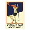 Artist Lane Swiss Ski Vintage Advertisement on Wrapped Canvas