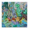 Artist Lane In a Garden by Lia Porto Painting Print on Wrapped Canvas
