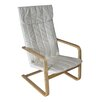 CorLiving Aquios Bentwood High Back Arm Chair