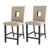 """CorLiving Bistro 25"""" Bar Stool with Cushion (Set of 2)"""