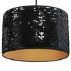 Pura Lux Nero Lucido 1 Light Drum Pendant