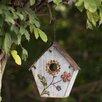 Flower 21.5 inch x 11 inch x 6 inch Birdhouse - Sunjoy Birdhouses