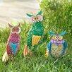 Sunjoy Whimsical 3 Piece Owl Garden Statue Set