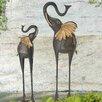 Sunjoy Elegant 2 Piece Elephant Garden Statue Set