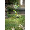 Dragonfly Glass and Metal LED Solar Garden Stake - Sunjoy Garden Statues and Outdoor Accents
